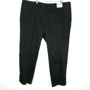 Avenue 22 NEW Black Ankle Pant Slim Leg Modern Fit
